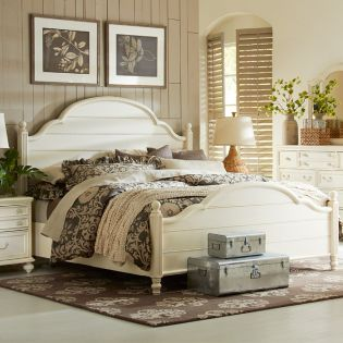 3510-4105K Haven  Low Poster King Bed (침대+협탁+화장대)