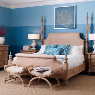 1220-567  Upholstered King Bed (침대+협탁+화장대)