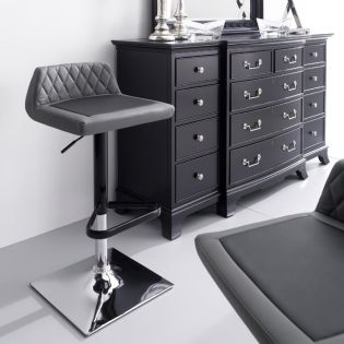 54008-Grey-Howie  Adjustable Bar Stool