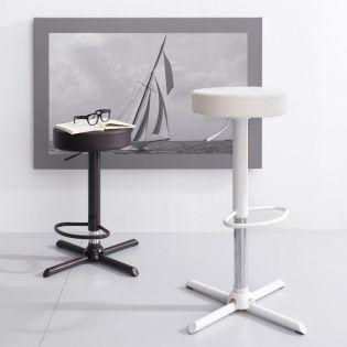 30936-White-Franco  Adjustable Bar Stool