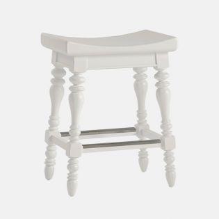 411-21-74 White  Counter Stool