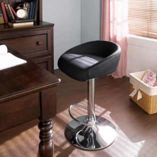 08002-Black-Fargo  Adjustable Bar Stool