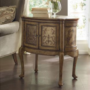 500-50-837  Handpainted Accent Table