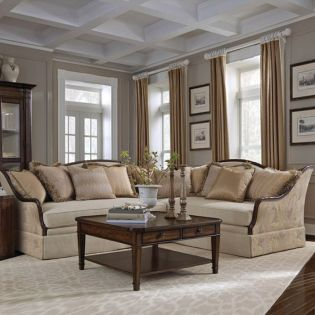 513511-5001AA Ava  Creme Sectional Sofa