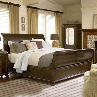 River House 39375B  Sleigh Bed (침대+협탁+화장대)