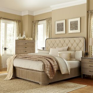 224126-2302 Greenpoint  King Panel Bed (침대+협탁+화장대)