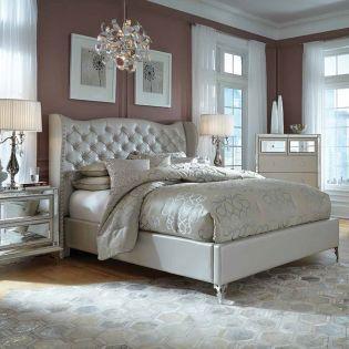 Hollywood Loft  Upholstered Bed (침대+협탁+화장대)