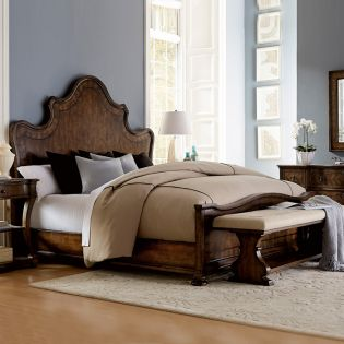 219126-2304 Firenze  King Panel Bed (침대+협탁+화장대)