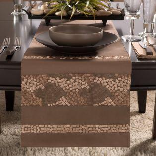 Mosaic  Table Runner  (Size: 33cm x 229cm)