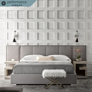 645250B  Connery Panel Bed  with Wall Panel (Set of 2)