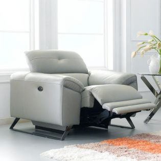 RS-A6241  Power Leather  Recliner Chair