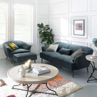 U4540-20-Marine Blue   Sofa