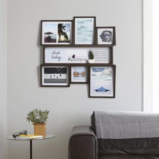 1005423-746 Edge Multi Wall-Aged Walnut Photo Display