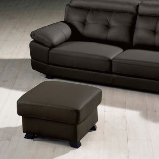 S-1562-Brown  Leather Ottoman