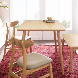 Luna-4-Natural  Dining Table