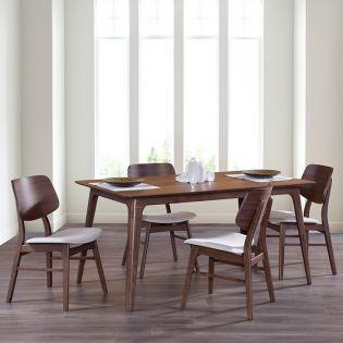 Oscar D1651-4  Dining Set (1 Table + 4 Chairs)