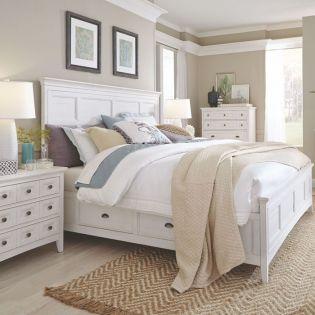 B4400  Panel Bed w/ Storage    (침대 + 협탁 + 화장대)