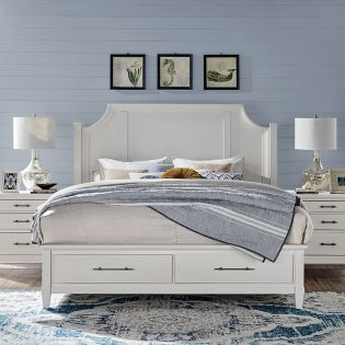 B5003 Arched  Wooden Storage Bed  (침대+협탁+화장대)