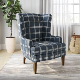 Lacroix-Navy  Accent Chair
