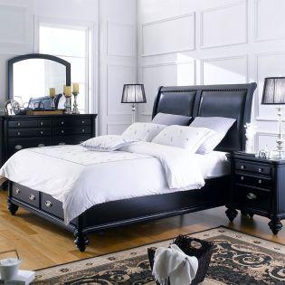 Domain  Queen Panel Bed  (침대+협틱+화장대)