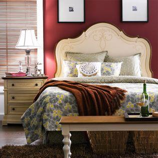 Macy-HB  Queen Panel Bed
