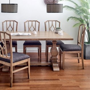Lemino-6  Dining Set (1 Table + 6 Chair)