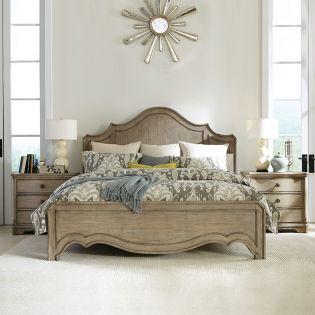 21570 Corinne  Panel King Bed (침대+협탁+화장대)