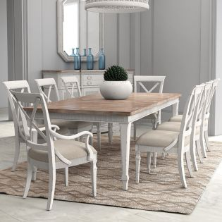 Palisade 273220  Dining Set  (1 Table + 2 Arm + 4 Side)