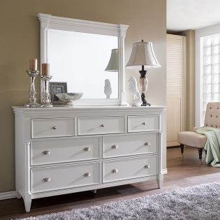 B2026  Drawer Dresser + Mirror