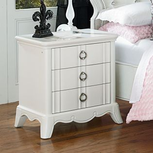 Y2194-01 White  Nightstand
