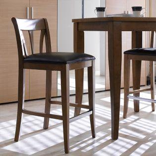 D397-Brown  Wooden Counter Chair