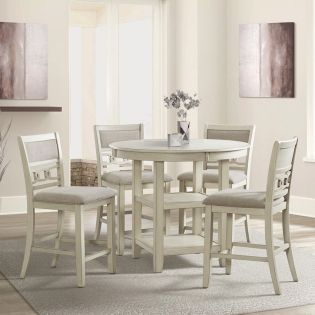 D1701-52 GIA-4  Round Counter Dining Set  ( 1Table + 4 Chairs)