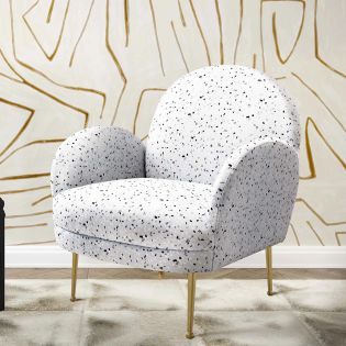 Tov-S6435  Gwen Terrazzo Velvet Chair