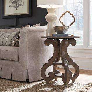 T4646-35  Round Accent Table