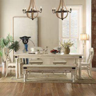 273 Regan  Dining Set  (1 Table + 4 Chiar + 1 Bench)