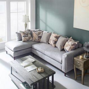 U4460-Silver  Chaise Sofa